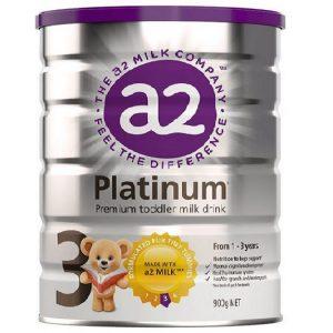 Sữa A2 Platinum premium Toddler milk drink số 3 của Úc cho trẻ từ 1 đến 3 tuổi hộp 900g