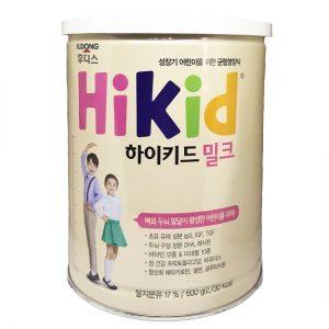 Sữa bột Hikid vị Vani của Hàn Quốc cho bé từ 1 tuổi Lon 600g