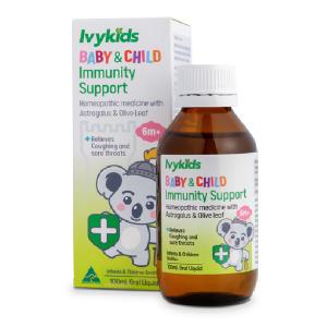 Siro tăng cường hệ miễn dịch Ivy Kids Baby & Child Immunity Support của Úc cho trẻ từ 6 tháng tuổi lọ 100ml