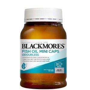 Dầu cá Blackmores Omega 3 Fish Oil Mini Caps của Úc cho trẻ từ 2 tuổi lọ 400 viên