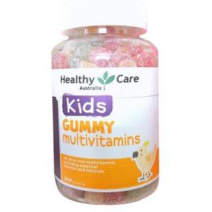 Kẹo dẻo bổ sung vitamin Healthy Care Gummy Multivitamin của Úc hộp 250 viên