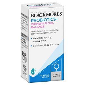 Men vi sinh viêm âm đạo Blackmores Probiotics+ Womens Flora Balance của Úc lọ 30 viên