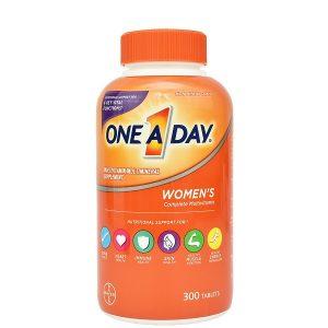 Viên uống bổ sung vitamin tổng hợp cho phụ nữ One a day Women's complete multivitamin của Mỹ lọ 300 viên