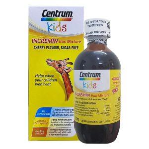 Siro cho trẻ biếng ăn Centrum Kids Incremin Iron Mixture của Úc cho trẻ từ 6 tháng tuổi lọ 200ml