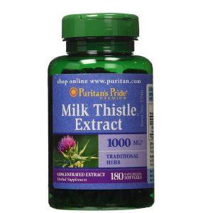 Viên uống bổ gan Milk Thistle Extract của Mỹ lọ 180 viên