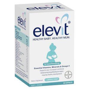 Vitamin tổng hợp Elevit Breastfeeding của Úc dành cho phụ nữ cho con búhộp 60 viên