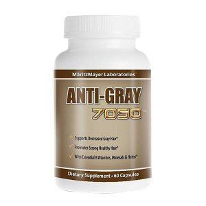 Viên uống trị tóc bạc sớm Anti – Gray 7050 của Mỹ lọ 60 viên