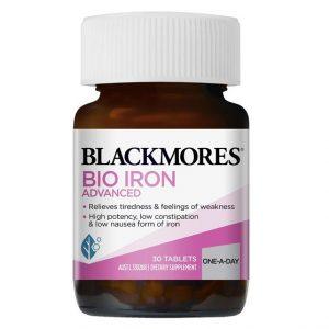 Viên uống bổ sung sắt cho bà bầu Blackmores Bio Iron Advanced của Úc lọ 30viên