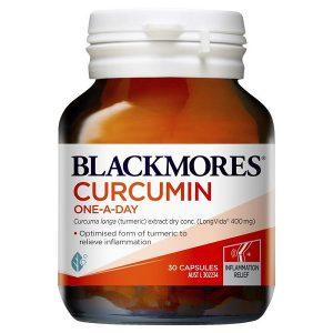 Viên uống tinh chất củ nghệ Blackmores Curcumin One A Day của Úc lọ 30 viên