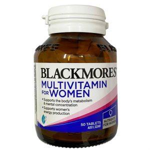 Vitamin cho phụ nữ Blackmores Multivitamin For Women của Úc lọ 50 viên
