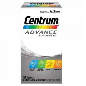 Vitamin tổng hợp cho người trưởng thành Centrum Advance for Adults của Úc lọ 100 viê
