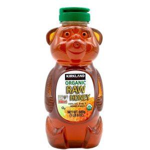 Mật ong hữu cơ Kirkland Signature Organic Raw Honey của Mỹ chai 680g