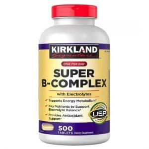 Vitamin tổng hợp Kirkland Signature One Per Day Super B-Complex With Electrolytes của Mỹ lọ 500 viên