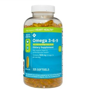 Viên uống bổ sung omega 3-6-9 Member's Mark Supports Heart Health Omega 3-6-9 của Mỹ lọ 325 viên