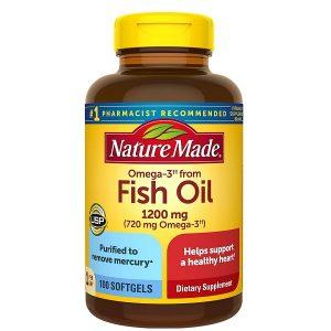 Dầu cá Nature Made Fish Oil 1200mg của Mỹ lọ 200 viên