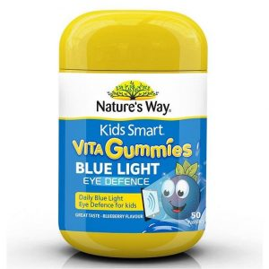 Kẹo bảo vệ mắt bé khỏi ánh sáng xanh Nature's Way Kids Smart Vita Gummies Blue Light Eye Defence của Úc lọ 50 viên
