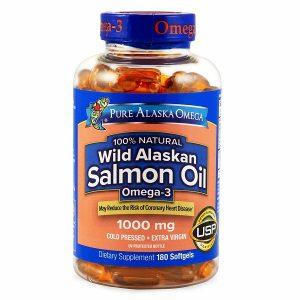 Dầu cá hồi Pure Alaska Omega Wild Salmon Oil Omega 3 của Mỹ lọ 180 viên