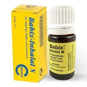 Tinh dầu trị ngạt mũi Babix - Inhalat N của Đức cho trẻ từ 1 tháng tuổi lọ 10ml