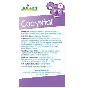 Muối uống vi lượng đồng căn Boiron Cocyntal Baby Colic của Canada cho trẻ từ 1 đến 6 tháng hộp 30 ống 1ml