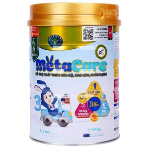 Sữa bột Meta Care số 3 của Việt Nam cho trẻ từ 1 đến 3 tuổi hộp 900g
