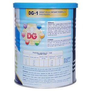 Sữa dê DG-1 Goat Milk Infant Formula của New Zealand cho trẻ từ 0 đến 6 tháng tuổi hộp 400g