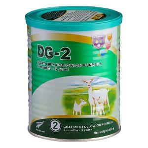 Sữa dê DG-2 Goat Milk Follow-On Formula của New Zealand cho trẻ từ 6 đến 36 tháng hộp 400g