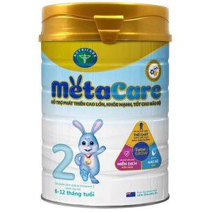 Sữa bột Meta Care số 2 của Việt Nam cho trẻ từ 6 đến 12 tháng hộp 900g