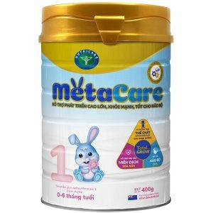 Sữa bột Meta Care 1 của Việt Nam cho trẻ từ 0 đến 6 tháng hộp 900g