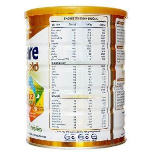 Sữa bột Pediacare Gold 2 của Việt Nam cho trẻ từ 3 tuổi hộp 900g