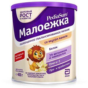 Sữa PediaSure Малоежка nội địa Nga cho trẻ từ 1 đến 10 tuổi hộp 400g