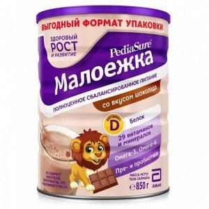 Sữa PediaSure Малоежка nội địa Nga cho trẻ từ 1 đến 10 tuổi hộp 850g