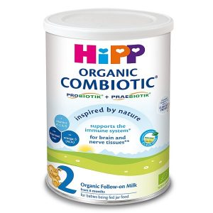 Sữa bột HiPP Combiotic Organic số 2 cửa Đức cho trẻ từ 6 đến 12 tháng hộp 800g