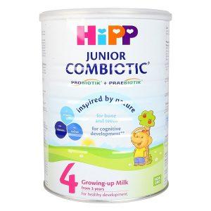 Sữa bột HiPP Combiotic Organic số 4 của Đức cho trẻ từ 3 tuổi hộp 350g