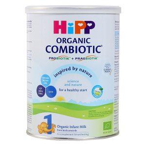Sữa bột Hipp Combiotic Organic số 1 của Đức cho trẻ từ 0 đến 6 tháng hộp 800g