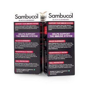 Siro tăng sức đề kháng Sambucol Black Elderberry Immuno Forte của Anh cho trẻ trên 3 tuổi lọ 120ml
