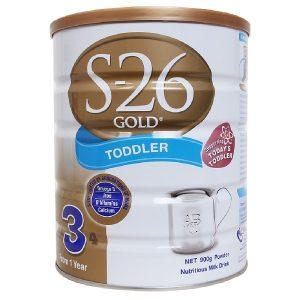 Sữa bột S-26 số 3 Gold Toddler của Úc cho trẻ từ 1 đến 2 tuổi hộp 900g