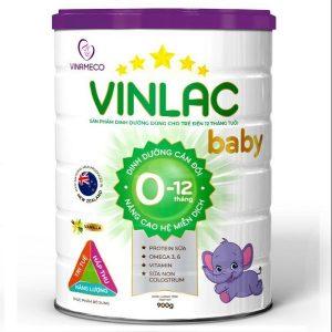 Sữa bột Vinlac Baby của Việt Nam cho bé từ 0 đến 12 tháng hộp 900g