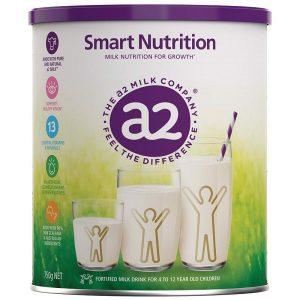 Sữa bột A2 Smart Nutrition của Úc cho trẻ từ 4 đến 12 tuổi hộp 750g