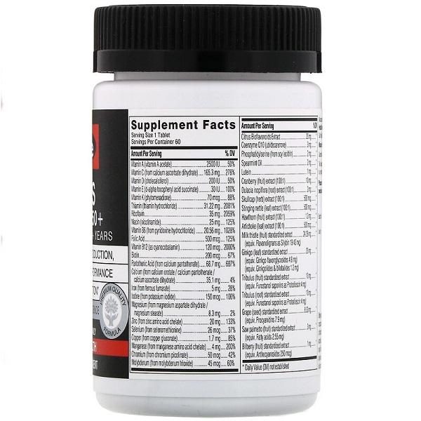 Vitamin tổng hợp cho nam Swisse Men's Ultivite Multivitamin của Úc lọ 60 viên