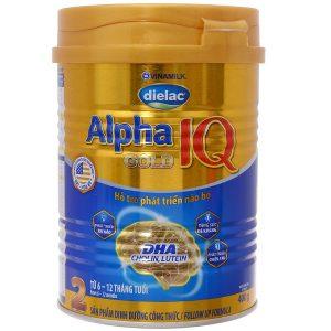 Sữa bột Vinamilk Dielac Alpha Gold 2 của Việt Nam cho trẻ từ 6 đến 12 tháng hộp 400g