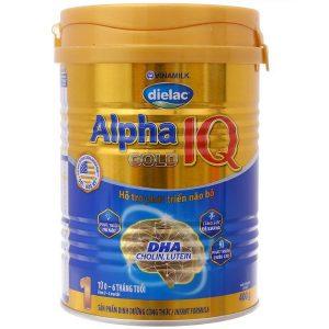 Sữa bột Vinamilk Dielac Alpha Gold 1 của Việt Nam cho trẻ từ 0 đên 6 tháng hộp 400g