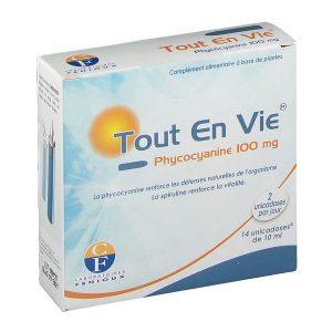 Tảo biển Tout En Vie Phycocyanine 100 mg của Pháp hộp 14 uống 10ml