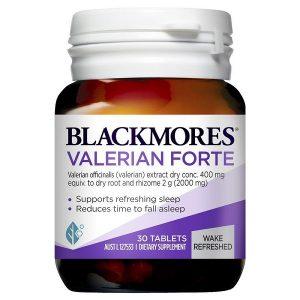 Viên uống hỗ trợ giấc ngủ Blackmores Valerian Forte của Úc lọ 30 viên