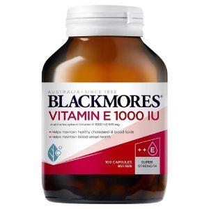 Viên uống bổ sung vitamin C Blackmores Vitamin E 1000 Iu của Úc lọ 30 viên