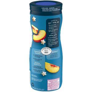Bánh ăn dặm Gerber Puffs Peach vị đào của Mỹ cho trẻ từ 6 tháng tuổi lọ 42g