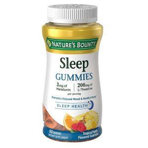 Kẹo dẻo giúp ngủ ngon Nature's Bounty Sleep Gummies Sleep Health của Mỹ lọ 60 viên