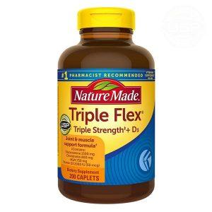 Viên uống bổ khớp Nature Made Triple Flex USP Triple Strength + D3 của Mỹ lọ 200 viên
