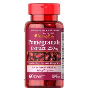 Viên uống tinh chất hạt lựu Puritan's Pride Pomegranate Extract 250mg của Mỹ lọ 60 viên