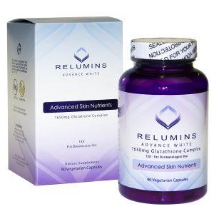 Viên uống trắng da Relumins Advance White của Mỹ lọ 180 viên
