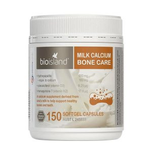 Viên sữa bổ sung canxi bio island Milk Calcium Bone Care của Úc lọ 150 viên